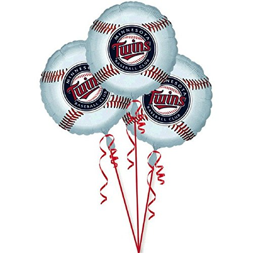 amscan Exciting Minnesota Twins Balloons Party Decoration (3 Pack), 18