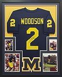 Charles Woodson Framed Jersey Signed PSA/DNA Autographed Michigan Heisman