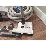 Central Vacuum 35 Ft Hose Accessory Kit Featuring Sebo Carpet Power Head (White ET-1)