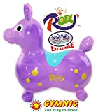 """Gymnic Rody Horse Inflatable Bounce & Ride, """"Mattys Toy Stop"""" Exclusive Purple & Pink Swirl (70254)"""