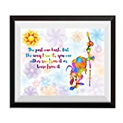 Uhomate The Lion and King Baby Nursery Home Canvas Prints Wall Art Anniversary Gifts Baby Gift Inspirational Quotes Wall Decor Living Room Bedroom Bathroom Artwork C089 (11X14)