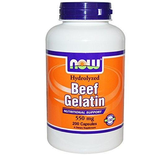 Now Foods Beef Gelatin 550 mg - 200 Caps 2 Pack