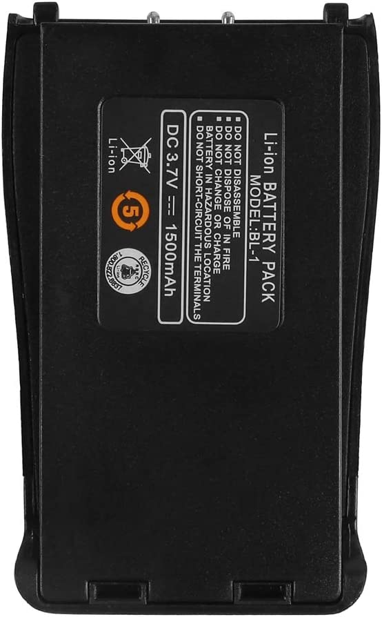 BAOFENG Walkie Talkie Battery Replacement 1500mAh Rechargeable Li-Ion Battery for BF-888S Two Way Radios
