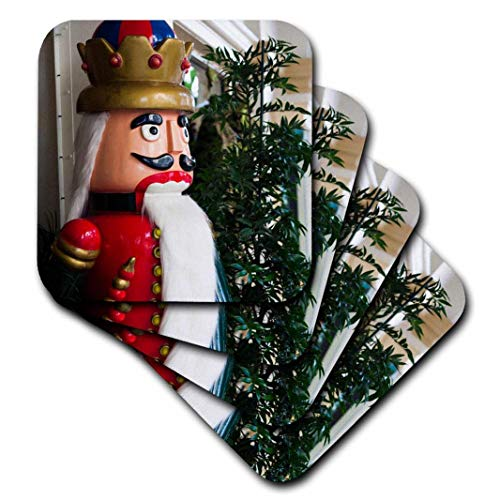 3dRose USA, Florida, Palm Beach, Worth Avenue, Large Nutcracker Statue. - Ceramic Tile Coasters, Set of 4 ()