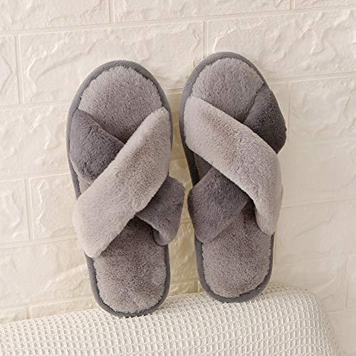 Donna Da Inverno Con Calde Gloglow Fiocco Paio Cotone Grey pink Casa white 1 Antiscivolo Pantofole Di Autunno Interno Donna EHzzPq