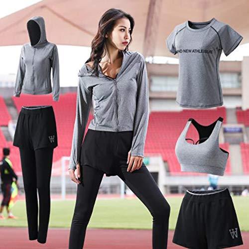 Serré Pour À Le Femmes ensemble Running Rapide D'entraînement Respirante Vert Pièces 5 Yoga De 运动健身Combinaison Séchage PEqwYxA