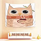 Drum Coffee Table for Sale iPrint 1pcs Hanging Tapestry 4pcs Pillow case,Wall Hanging Blanket Beach Towels Picnic Mat Home Decor,Coffee Scarf Student Midterms Humor Illustration,3D Printed Tapestry Bedroom Living Room