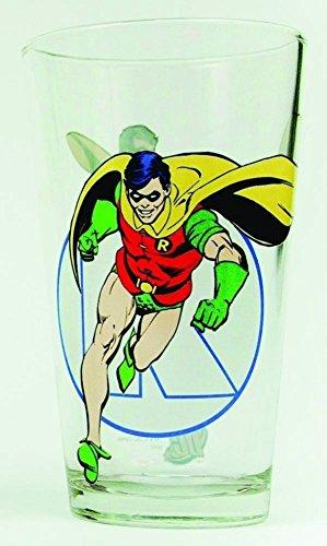 (DC Comics (Batman) Robin (5 3/4-Inches Tall) 16 Oz Glass Toon Tumbler (with Gift Box))