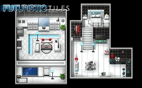 RPG Maker VX DLC - Futuristic Tiles Resource Pack [Online