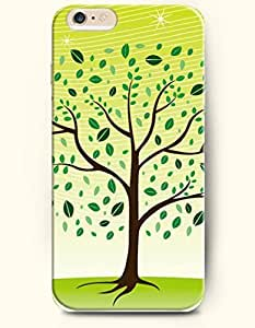 SevenArc Phone Case for iPhone 6 Plus 5.5 Inches with the Design of Tree and Fallen Green Leaf