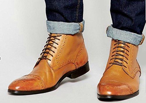 Shoeslulu 20-59 Premium Runde Vokset Lerret Shoelaces Bootlaces Mørk Brun