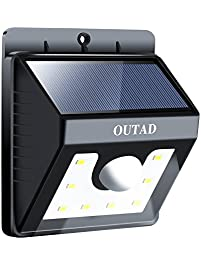 OUTAD Solar Lights ,8 LED Wireless Waterproof Motion Sensor Outdoor Light  For For Patio,