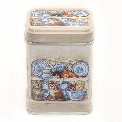 Kitchen Cats MINI Tea Caddy / Spice Tin - 7.5cm BZB