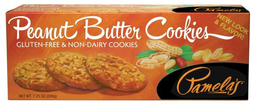 Pamela's Products Gluten Free Cookies, Peanut Butter, 7.25-Ounce Boxes (Pack of 6) Chewy Gourmet Cookie