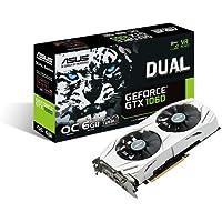 Asus DUAL-GTX1060-O6G Gaming Graphic Card GeForce GTX 1060 6GB, Dual-Fan, OC Edition, VR Ready, Dual HDMI, DisplayPort 1.4