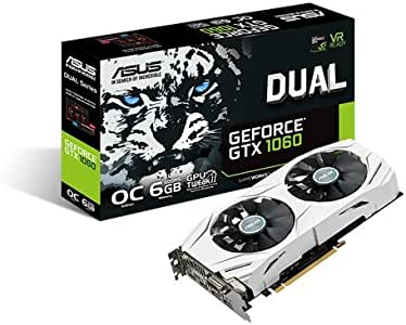 ASUS Dual-GTX1060-O6Gb GDDR5 Overclocked Graphic Card