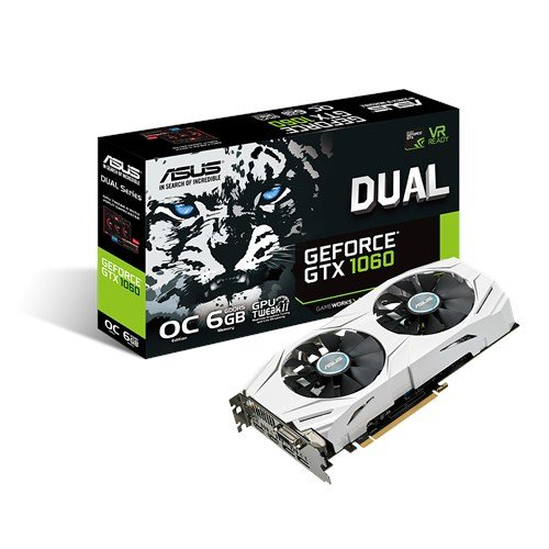 Comp System Way 2 (ASUS GeForce GTX 1060 6GB Dual-Fan OC Edition VR Ready Dual HDMI DP 1.4 Gaming Graphics Card (DUAL-GTX1060-O6G))