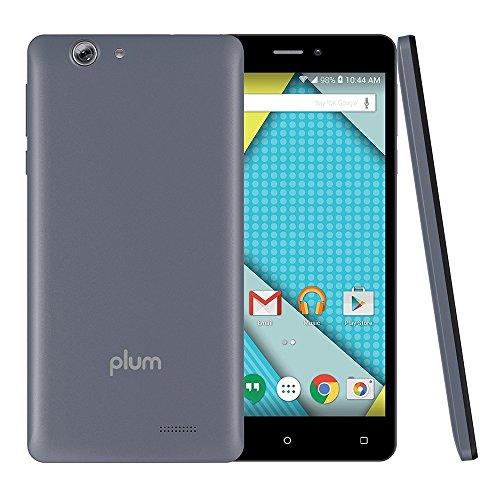 Plum Phantom - Unlocked Phone 4G GSM 6'' HD Display 16 GB Memory 16MP+8MP Dual Camera Android 6.0 - Gray (U.S. Warranty) by Plum