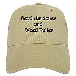 CafePress – Head Gardener – Baseball Cap with Adjustable Closure, Unique Printed Baseball Hat Khaki