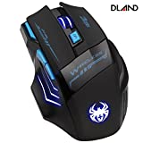 DLAND ZELOTES Professional LED Optical 2400 DPI 7 Button USB 2.4G Wireless Gaming Mouse for Pro Game Notebook, PC, Laptop, Computer