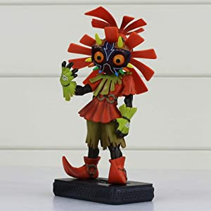 Jqchw Anime The Legend of Zelda Majora Figure Toy Majora's Mask 3D Skull Kid Collectible Figurine Model Character Statue PVC Handmade Model Doll Desktop Ornaments Toy Gifts 16cm