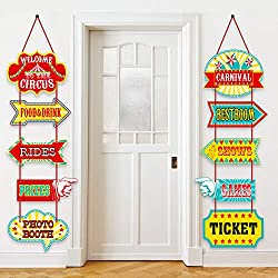 related image of Blulu Carnival Decorations, Laminated Circus Carnival Signs