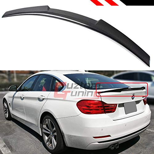 Cuztom Tuning Fits for 2014-2018 BMW F36 4 Series Gran Coupe 4 Door Carbon Fiber Highkick M4 Style Trunk Lid Spoiler Wing