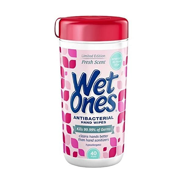 Wet Ones Antibacterial Hand Wipes, Fresh Scent 40 Ea