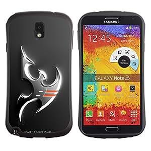 Be-Star Impreso Colorido Diseño Antichoque Caso Del iFace Primera Clase Tpu Carcasa Funda Case Cubierta Par SAMSUNG Galaxy Note 3 III / N9000 / N9005 ( Silver Falcon Eagle )
