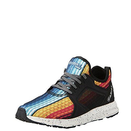 Ariat Women's Fuse Athletic Shoe, Rainbow Serape Mesh, 7 B US