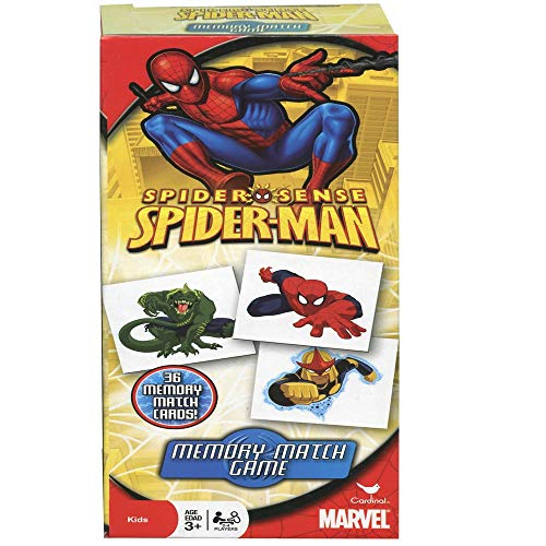 Marvel Spiderman Memory Match Game 36 Picture Cards Memorizing Superhero Character Photos Pairing Images Contest Indoor Outdoor Activity - Board Game Party Favor for Kids Age 3+ (The Best Superhero Games)