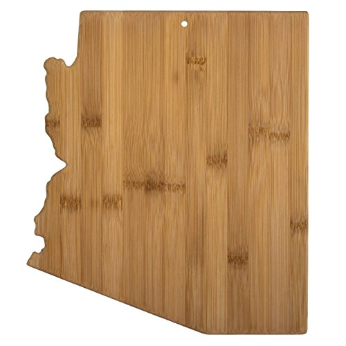 """Totally Bamboo State Cutting & Serving Board – """"Arizona"""", 100% Organic Bamboo Cutting Board for Cooking, Entertaining, Décor and Gifts. Designed in the USA!"""