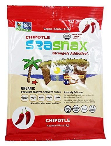 Seasnax Roasted Seaweed, Spicy Chipotle, 0.54-Ounce