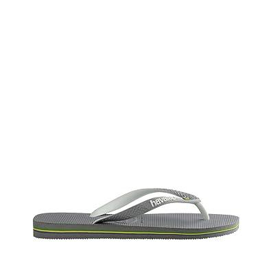 09e97d72f78a5 Amazon.com   Havaianas Mens Brazil Mix Sandal Steel Grey/White/White, Steel  Grey/White/White, 43/44   Sandals
