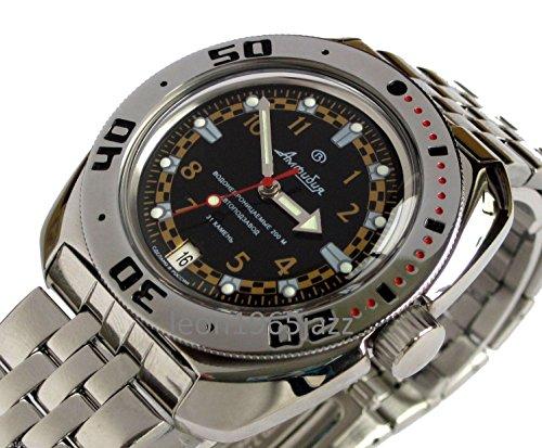 Auto Diver Watch (Vostok Amphibian 710469 /2416b Russian Military Divers 200m Watch Auto Black)
