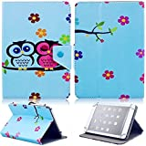 "Tsmine Kobo Arc 7 HD 7"" Tablet Flip Cartoon Case - Universal Protective Lightweight Premium Kids Cute Owl Printed PU Leather Case Cover, Owl Baby"