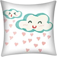 HIKO23 Print Throw Pillow Covers 45cm x 45cm,Weather Decorative Couch Pillow Polyester Square Cushion Cover for Sofa