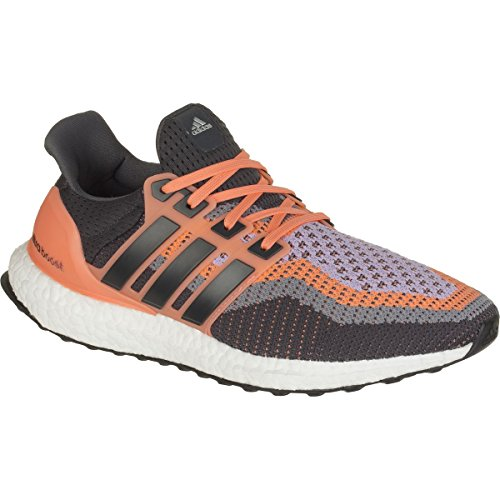 adidas Performance Women\u0027s Ultra Boost Running Shoe,Sun Glow Yellow/Solid  Grey/Glow Purple,8.5 M US