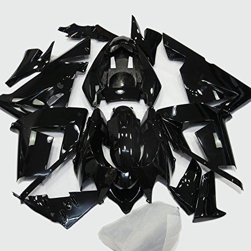 ABS Injection Molding - All Gloss Black Fairing Kit for Kawasaki Ninja ZX10R 2004 2005