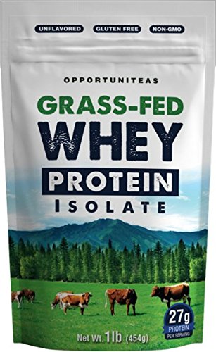 Grass Fed Whey Protein Powder Isolate Unflavored + Cold Processed + Undenatured Pure Wisconsin Grassfed Protein For A Shake, Smoothie, Drink, or Food Natural + Non GMO + No Gluten