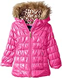 Limited Too Little Girls' Toddler Quilted Iridescent Puffer, Pink, 4T