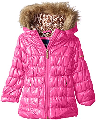 Limited Too Little Girls' Toddler Quilted Iridescent Puffer, Pink, 4T by Limited Too