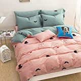 WaaiSo Simple Pure Cotton Soft Comfortable Bedding Collections Bedding Sets Four set Cartoon,1.8m?suitable 6 inches bed? Four set for chlidren, student, bedroom,&f3673
