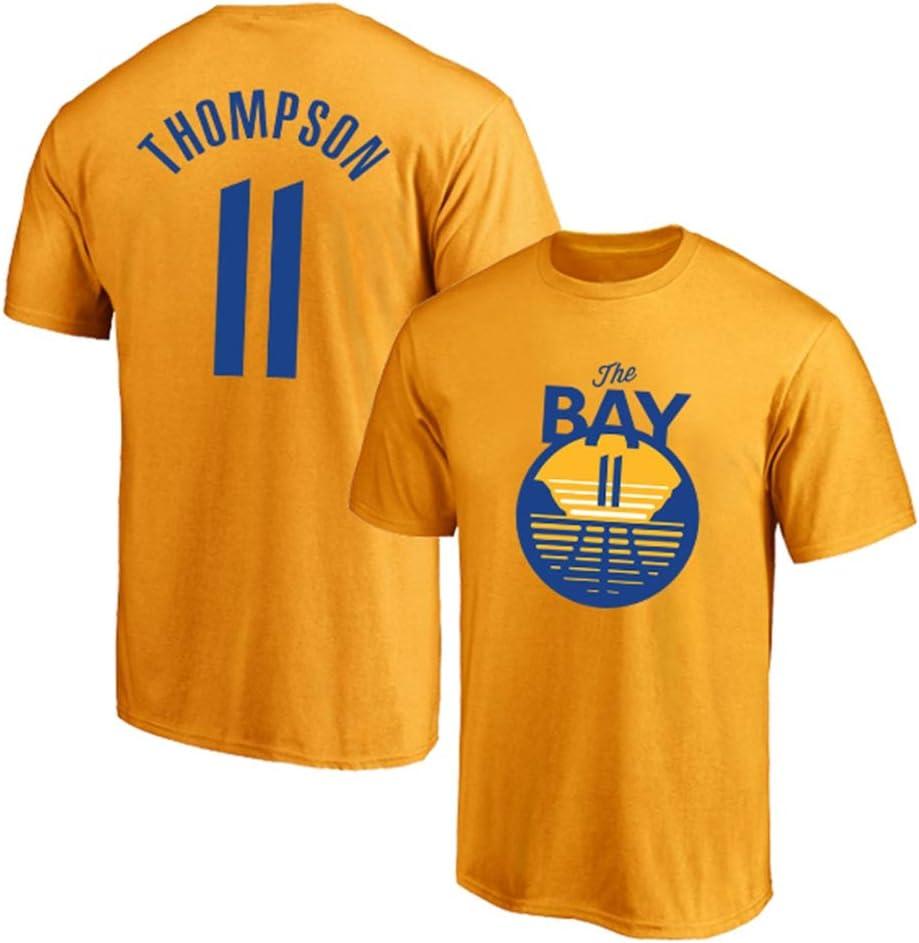 LITBIT Mens Basketball Jersey City Golden State Warriors 11# Thompson Breathable Quick Drying T-shirt Sport Vest Top,Orange,2XL 180~185cm