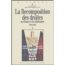 La recomposition des droites en France à la Libération, 1944-1948