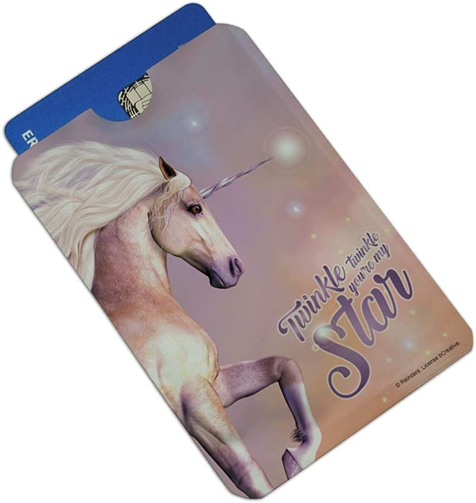 Twinkle Twinkle Youre My Star Magical Unicorn Credit Card RFID Blocker Holder Protector Wallet Purse Sleeves Set of 4