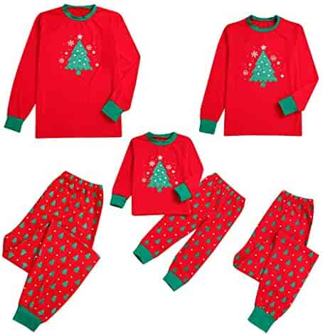 c552a3d205 Lurryly❤Matching Family Pajamas Christmas Santa Snowflake Sleepwear Kids  PJs Set Holiday Couples Suits
