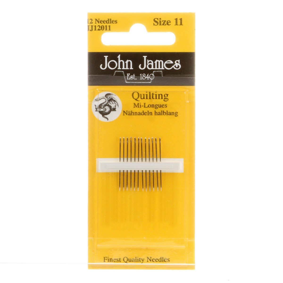 John James Quilting Between Needles Size 11 Pkg of 12