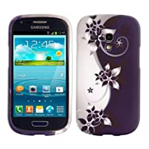 kwmobile TPU SILICONE CASE for Samsung Galaxy S3 Mini Design flowers Yin Yang white violet - Stylish designer case made of premium soft TPU