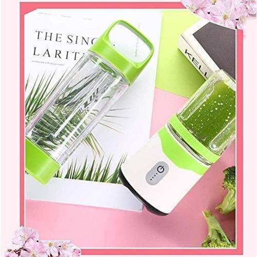 LAZ Blender Personal pequeño Mezclador portátil Copa Exprimidor al Aire Libre Recargable de Hogares Juicer de la Fruta Fabricante de Fruta Extractor 6 Cuchillas 420ml, ibuprofeno